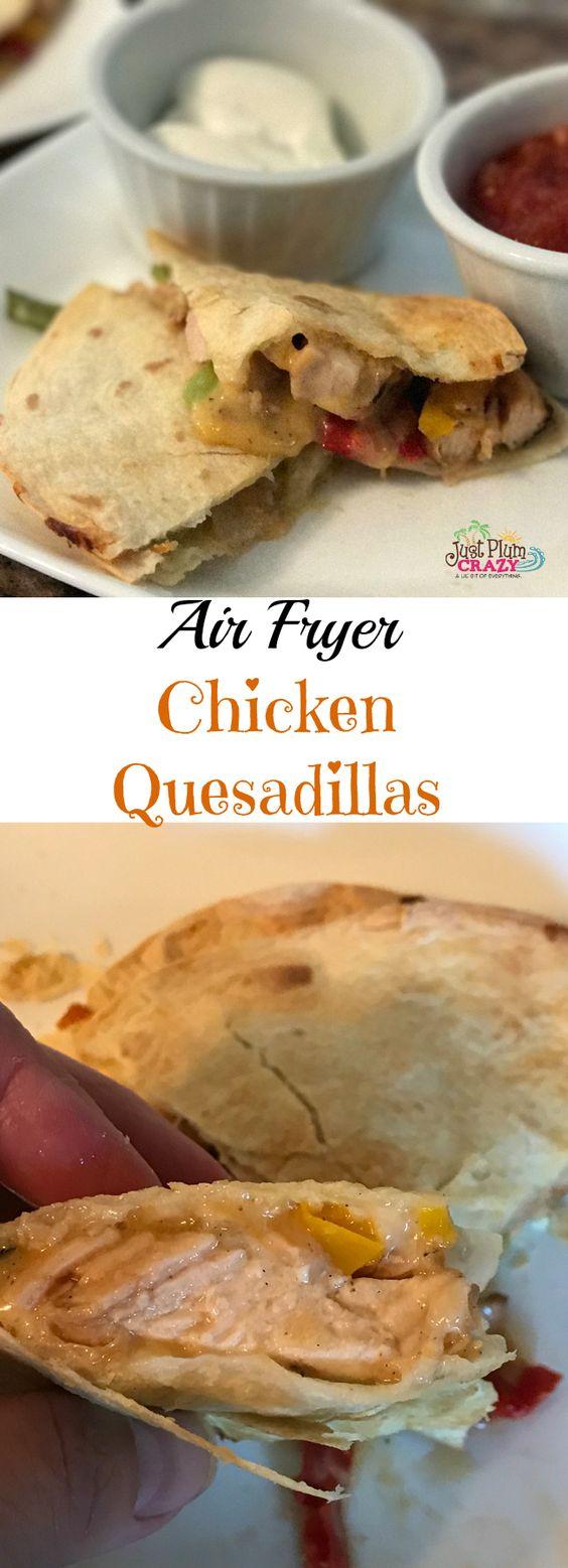 Air Fryer Chicken Quesadillas Recipe