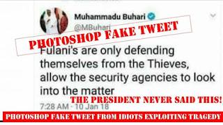 Fake Buhari tweet on herdsmen in circulation