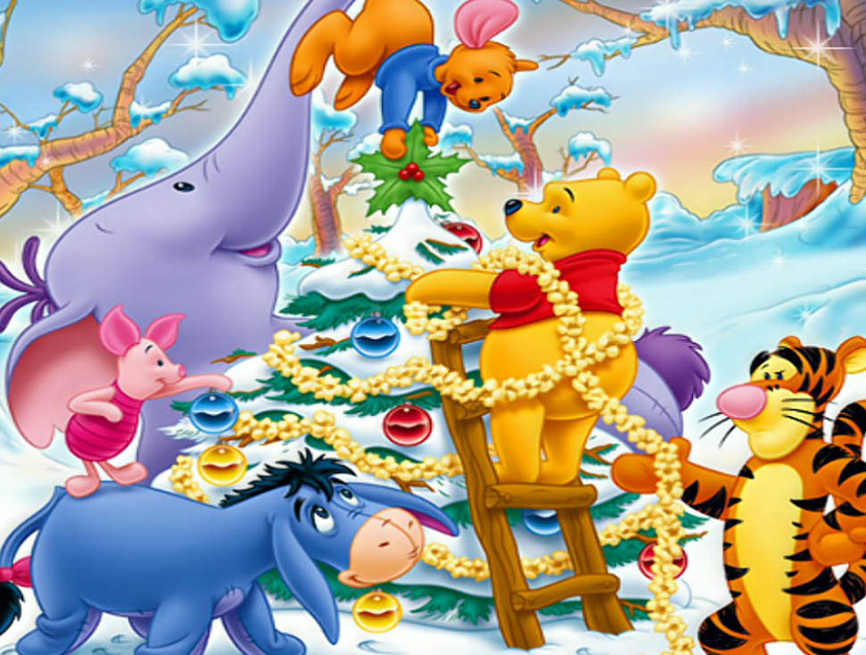 Pooh Cute Wallpaper Winnie The Pooh Amp Friends Christmas Holiday Pictures