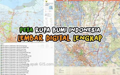 Peta Rupa Bumi Indonesia - Lembar Digital Lengkap Gratis