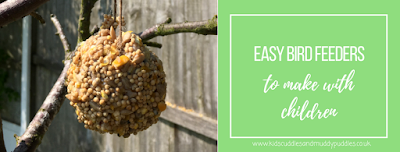 Easy bird feeders to make with children