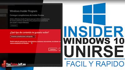 como ser insider de windows 10
