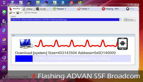 Cara Flashing Advan S5f Broadcom via DFU Flash tool
