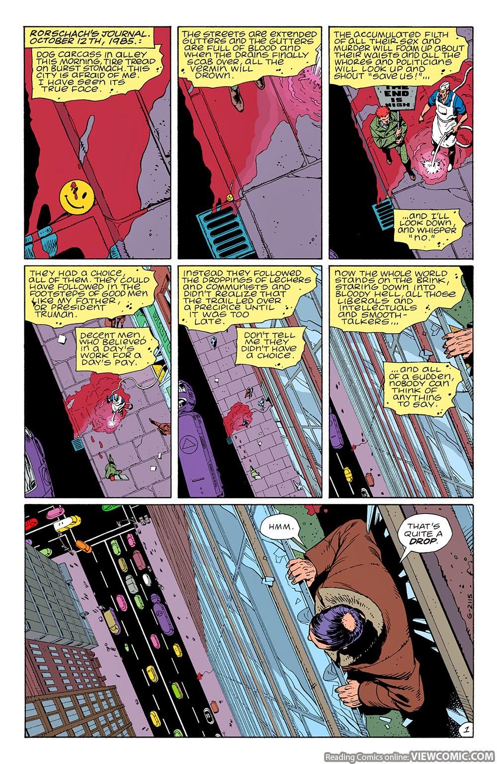 Watchmen 01 …………………………………… | Viewcomic reading comics online