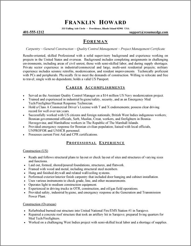 Sample Functional Resume Technical College. Functional Resume