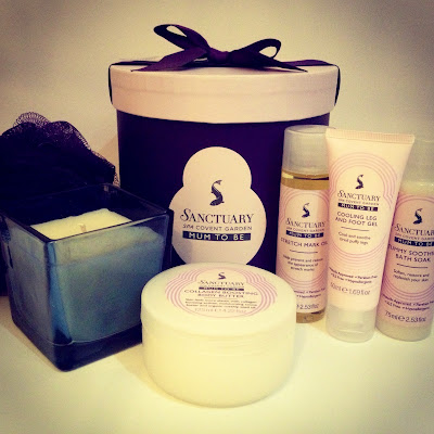 Ultimate Pampering thanks to the Sanctuary Hat Box Mum to be gift set