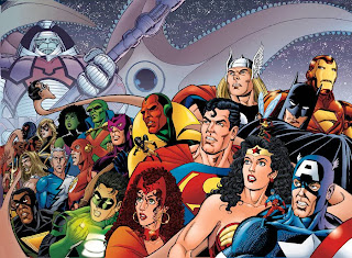 Marvel Justice League 90s Crossover Avengers DC