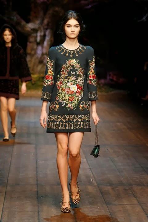 2765e47169 Dolce & Gabbana, sfilata Autunno Inverno 2014 2015 - Glamourday Moda ...