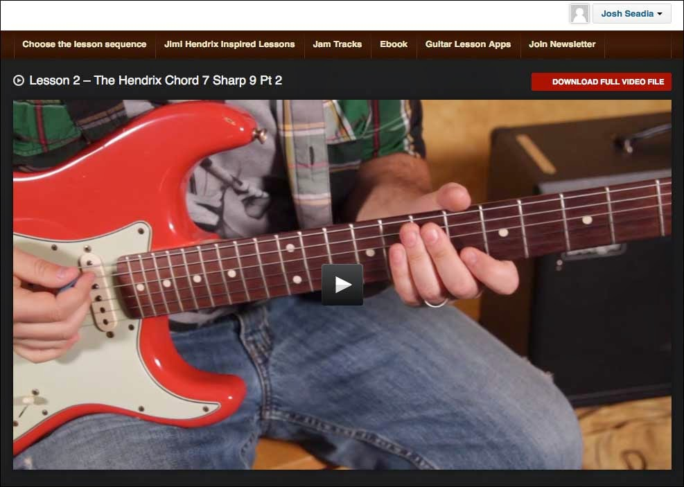 Found My Passion Guitar Review Of The Hendrix Revealed Course
