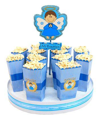 14 ideas de manualidades y decoraciones para bautizos y - Como hacer centros de mesa con dulces para bautizo ...