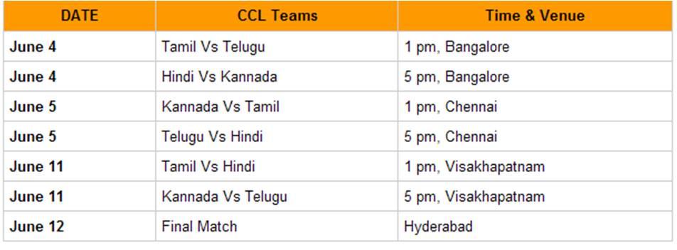 schedule in kannada