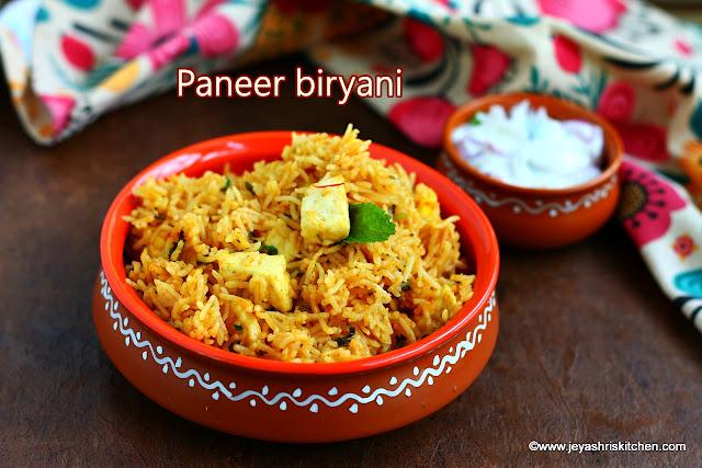 Paneer-biryani