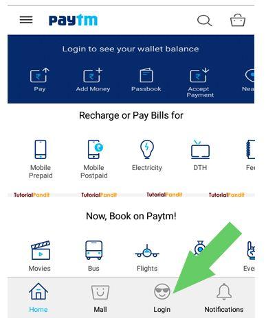 Paytm Account Dashboard