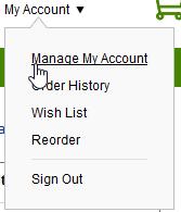 قائمة و خيارات حسابي