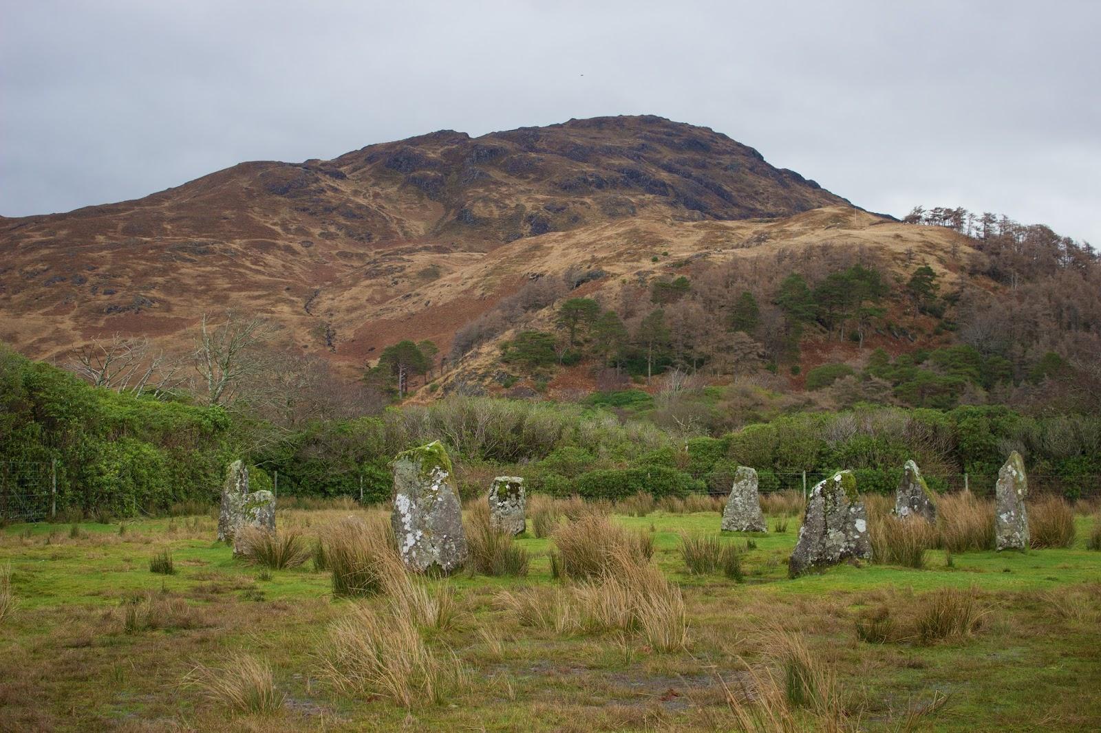 standing stones isle of mull scotland ben buie