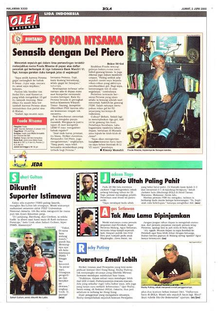 LIGA INDONESIA PROFIL BINTANG FOUDA NTSAMA
