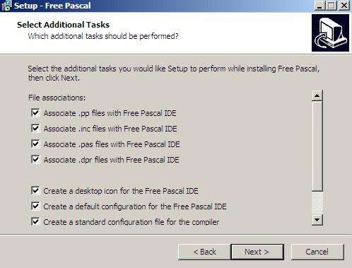 bagaimana cara instalasi program pascal