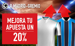 sportium promocion Real Madrid vs Gremio 16 diciembre