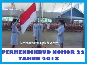 Permendikbud Nomor 22 Tahun 2018 - Pedoman Upacara Bendera di Sekolah