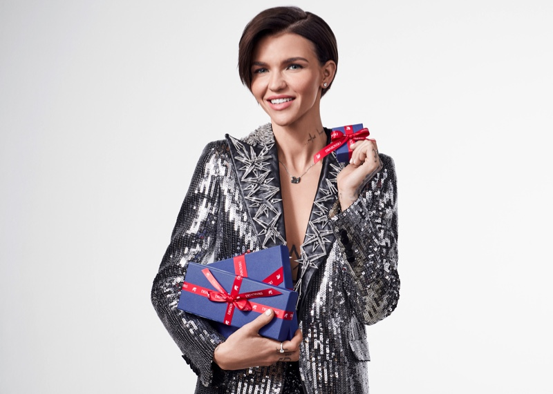 Ruby Rose fronts Swarovski Holiday 2017 campaign