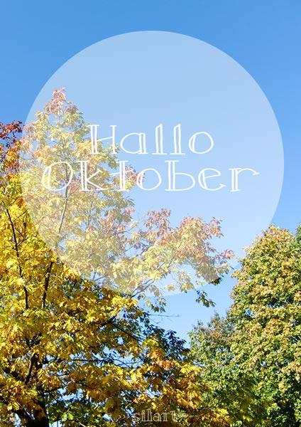 Hallo Oktober, Baum im Herbst