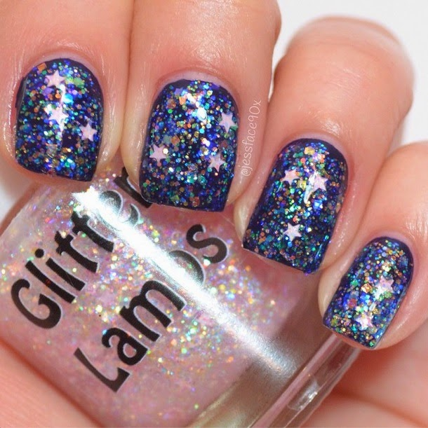 It's Snowing Cotton Candy Glitter Lambs Nail Polish Swatched by JessFace90x