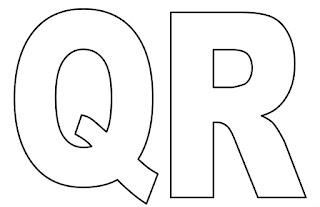 Moldes de letras Q e R