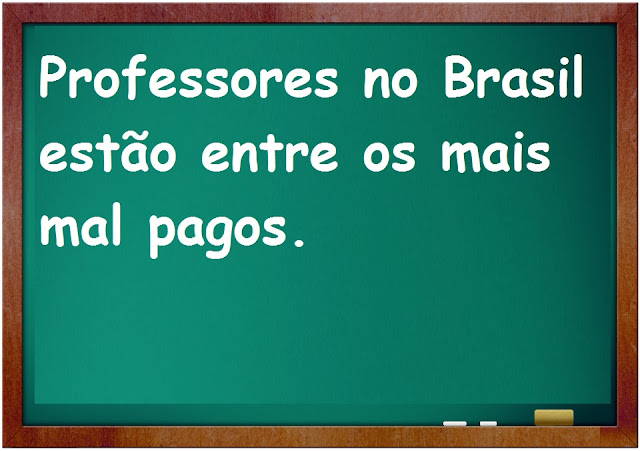 Professores no Brasil estão entre os mais mal pagos