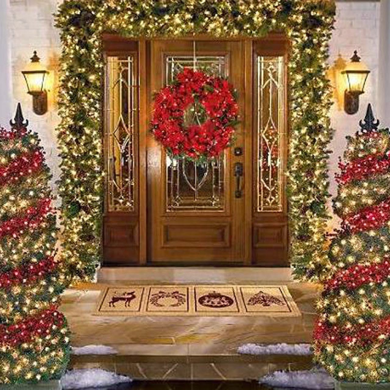 Outside Home Christmas Decorating Ideas: Lightshare: December 2014