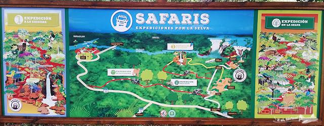 Mapa do Safari, Parque Nacional Iguazu, Puerto Iguazu, Argentina, Cataratas do Iguaçu