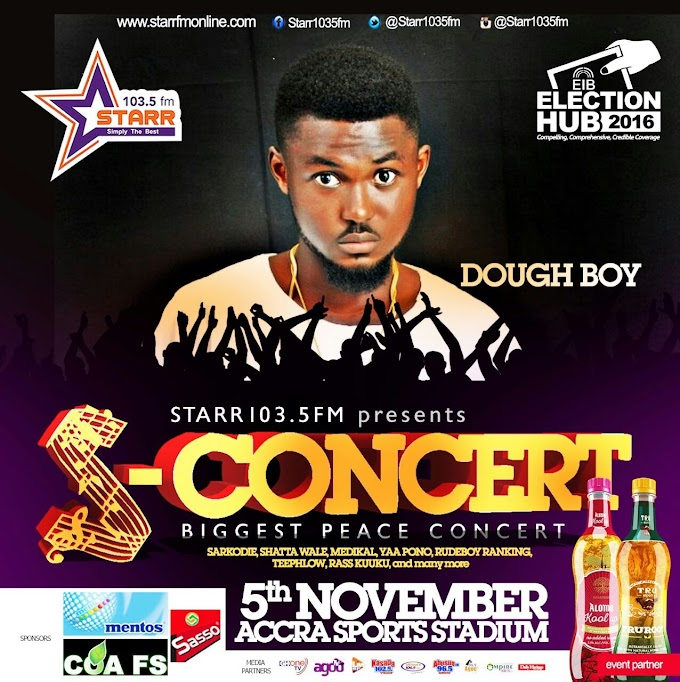 Artiste Dough-Boy for Starr Fm Nov. 5 'S Concert'