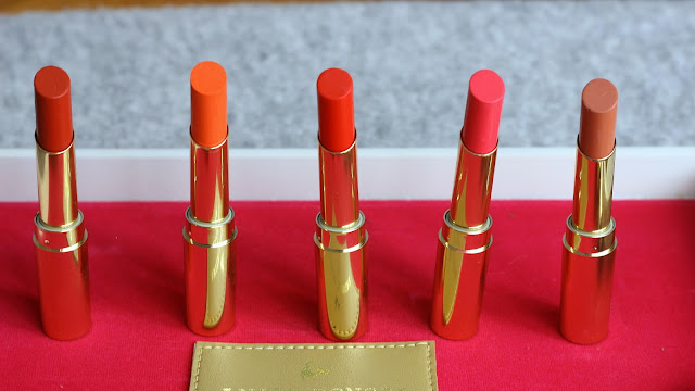 Lakmé Absolute Argan Oil Lip Color Swatches & Review 01 Ruby Velvet, 05 Dewy Orange,  08 Drenched Red, 14 Lush Rush and 15 Soft Nude