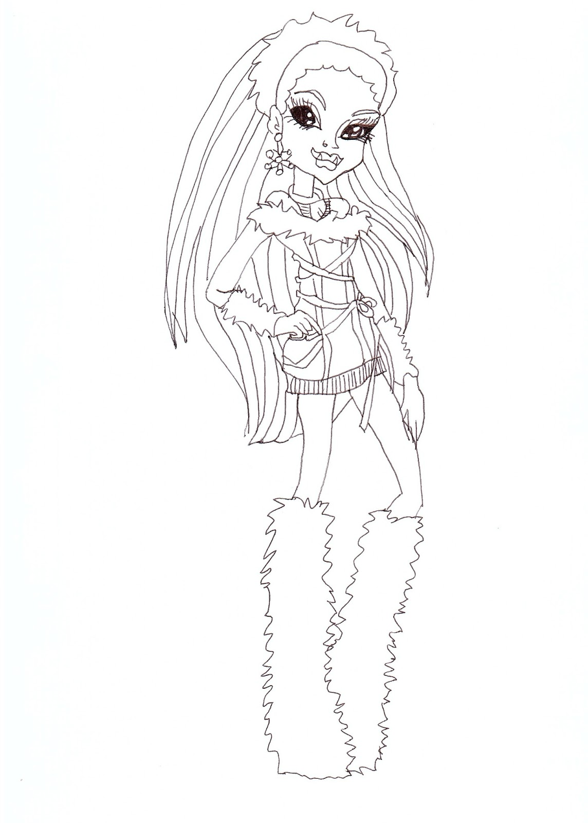 Abbey Bominable Coloring Sheet CLICK HERE TO PRINT Free Printable Monster High