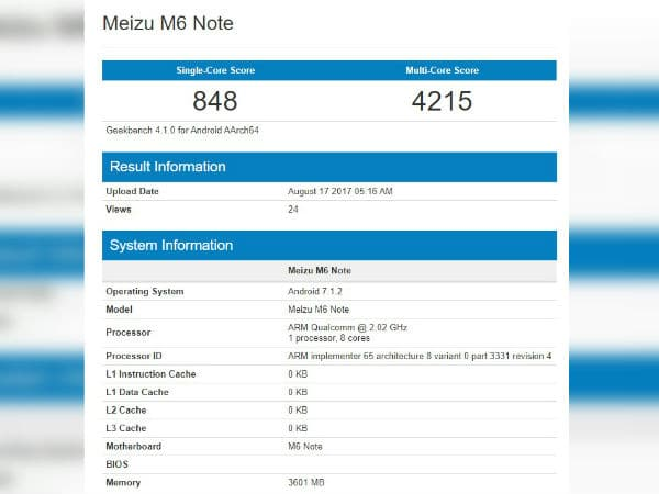 Meizu-note-M6-benchmark-revealed