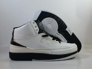 Jordan 2 White Black  Jual Sepatu Basket Replika Import Premium