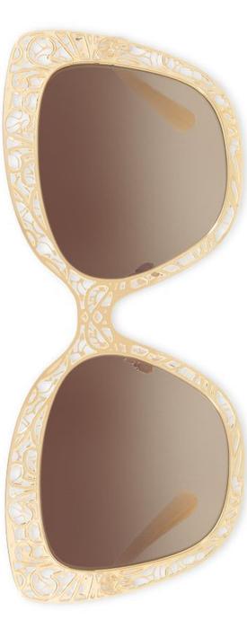 Dolce & Gabbana 56MM Metal Butterfly Sunglasses