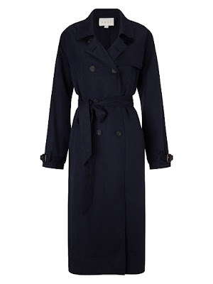 East tencel trench coat