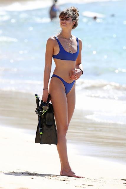 Taylor Marie Hill Hot Pic In Blue Bikini At Hawaii Beach