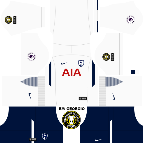 Dream League Soccer Kits Tottenham Completo 17 18 Dls17 Fts By Georgio Ferreira