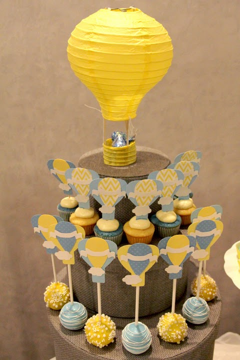 Decorations Shower Baby Gray Yellow