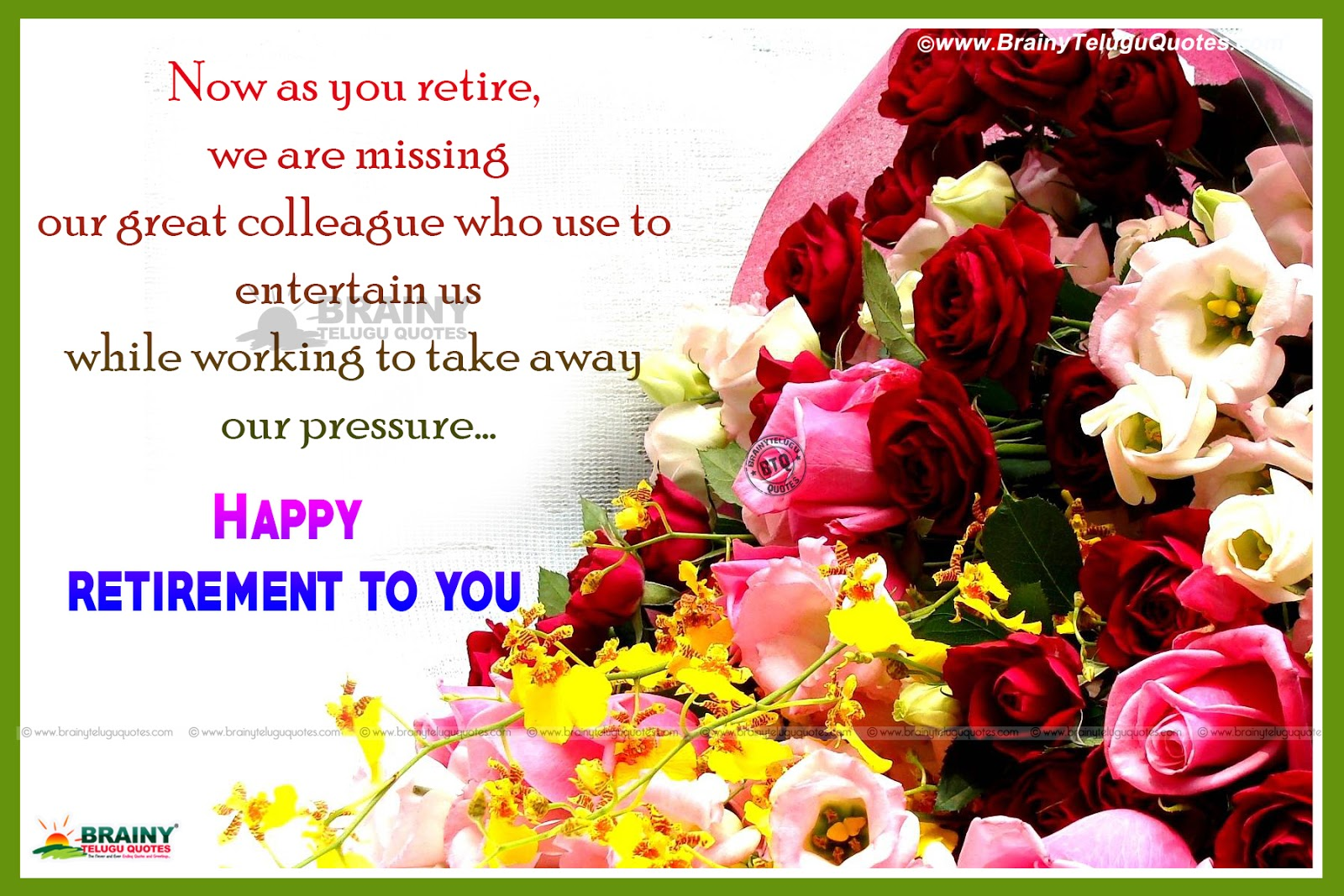 Happy Retirement Greetings In English-Have A Great Future