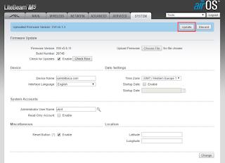 Cara Upgrade Firmware Ubiquiti Litebeam M5