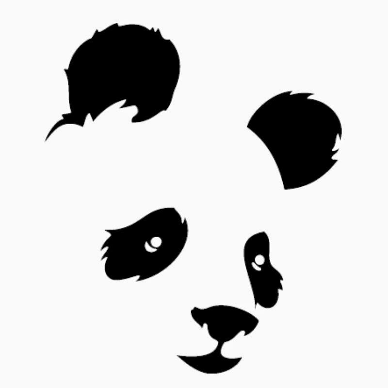 plantilla oso panda