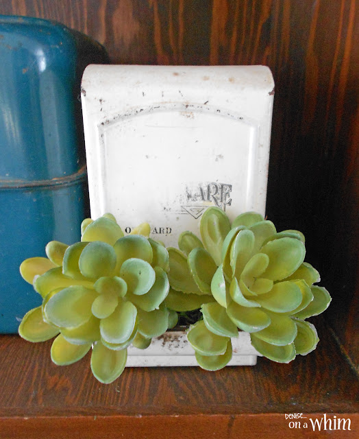 Vintage Match Box Succulent Planter | Denise on a Whim