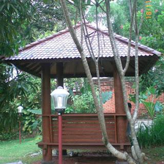 Gazebo Unik taman minimalis rumah
