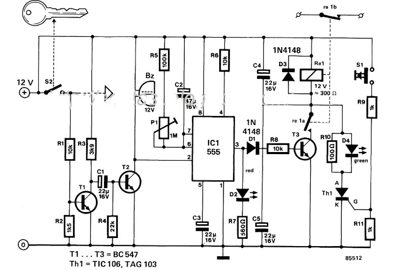 Circuit Project Nonstopfree Electronic Circuits Diagram And Automatic Car Alarm: Automatic Headlight Wiring Diagram At Johnprice.co