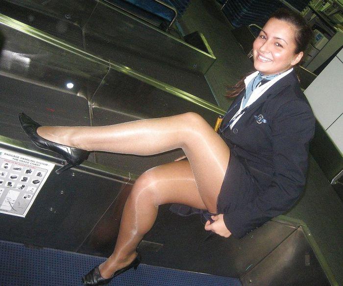 Stewardess pantyhose