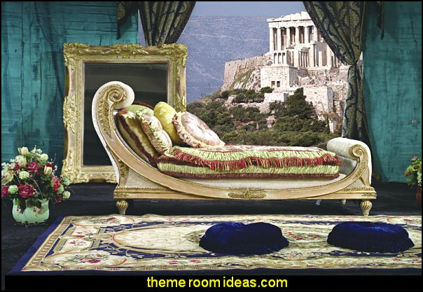 Acropolis in Greece wall mural classic traditional Furniture Bench