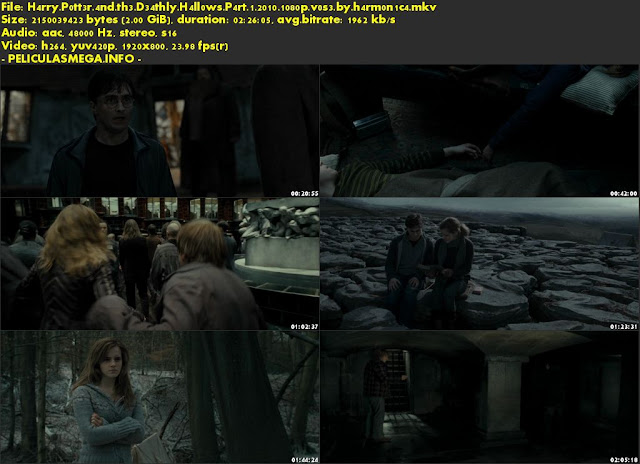 Descargar Harry Potter and the Deathly Hallows: Part 1 Subtitulado por MEGA.