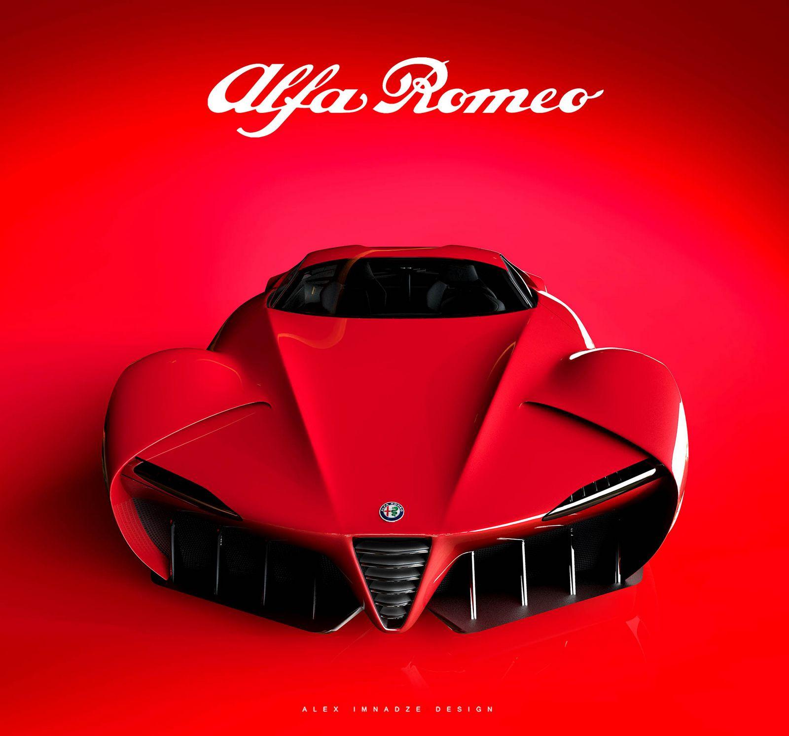 Alfa Romeo 6C Disco Volante Design Study Is An Italian